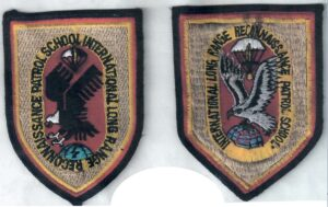 ISTC unit insignia, ordered from newest to oldest design (with the newest design starting on the left).