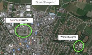 Weingarten: Argonnen Kaserne and Welfen Kaserne
