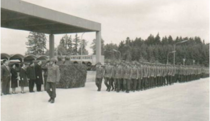 The first swearing-in in Pfullendorf on February 23, 1961