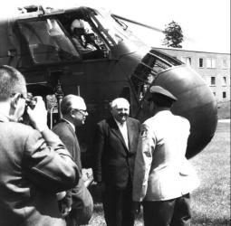 Federal Chancellor, Kurt Kiesinger visit on 25 June 1965